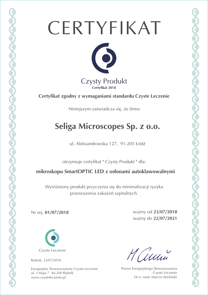 seliga_microscopes_escl_certyfikat